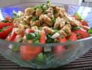 Salata de spanac cu pui si zmeura