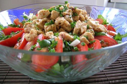 salata spanac pui zmeura Salata de spanac cu pui si zmeura