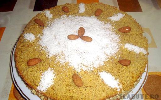 tort nuca cocos Tort cu nuca de cocos a la Montignac