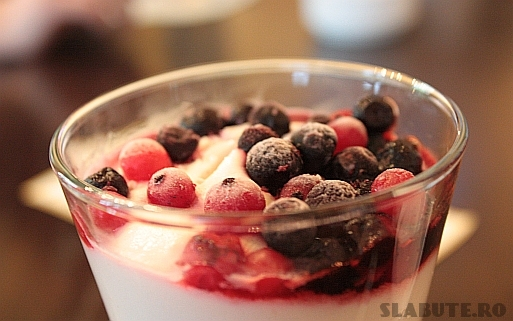 crema iaurt afine Crema de iaurt cu fructe