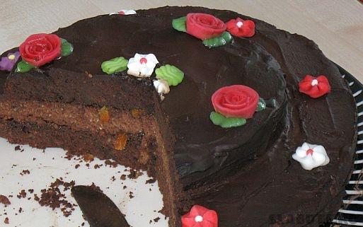 tort ciocolata detaliu Tort dietetic de ciocolata