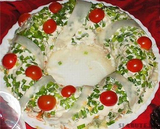salata coronita de craciun Salata Coronita de Craciun