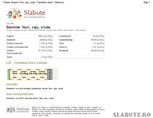 printare aliment Slabute 3   Tiparire alimente/retete