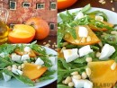 Salata cu rucola, kaki, telemea de capra