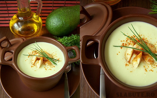 supa crema avocado Supa crema de avocado