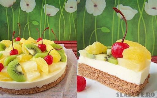 tort fructe Tort cu fructe