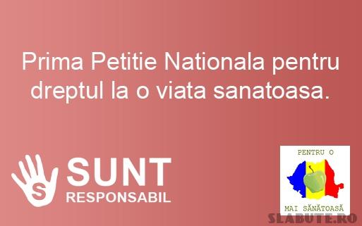 splash prima petitie nationala dreptul viata sanatoasa1 Prima Petitie Nationala pentru Dreptul la o Viata Sanatoasa