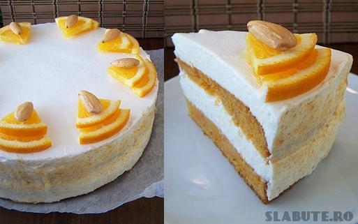tort morcovi portocala Tort de morcovi portocala